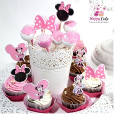 Mini platou-6 cake pops+6 briose decorate MC13